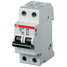 Выключатель автоматический двухполюсный (1п+N) S201P 6А Z 25кА (S201P Z6NA)   2CDS281103R0378   ABB