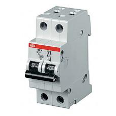 Выключатель автоматический двухполюсный S202P 6А D 25кА (S202P D6)   2CDS282001R0061   ABB