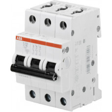 Выключатель автоматический трехполюсный S203M 2А C 10кА (S203M C2) | 2CDS273001R0024 | ABB
