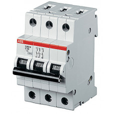 Выключатель автоматический трехполюсный S203P 0,5А K 25кА (S203P K0.5) | 2CDS283001R0157 | ABB