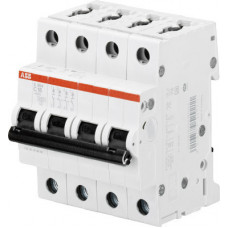 Выключатель автоматический четырехполюсный S204M 10А C 10кА (S204M C10) | 2CDS274001R0104 | ABB