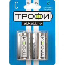 Батарейка щелочная (алкалиновая) Трофи LR14-2BL (12/96/6720) (C) | C0034932 | ЭРА