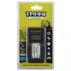 Зарядное устройство Трофи TR-803 AAA LCD скоростное+2 HR03 800mAh (6/24/720) |C0031648 | ЭРА