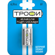 Батарейка щелочная (алкалиновая) Трофи 4LR44-1BL (10/100/10000) (LR44) | Б0015020 | ЭРА