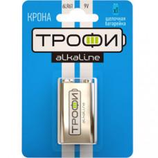 Батарейка щелочная (алкалиновая) Трофи 6LR61-1BL (12/96/4992) (Крона) | C0034928 | ЭРА