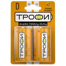 Батарейка солевая (ЭП) Трофи R20-2BL (12/96/4992) (D) | Б0023143 | ЭРА