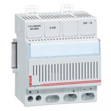 Однофазный блок питания - 24 В= - 24 Вт - 1 A - 4 модуля   004793   Legrand