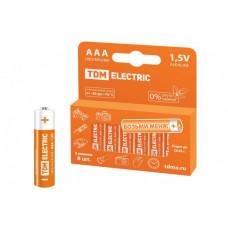 Элемент питания LR03 AAA Alkaline 1,5V PAK-8 | SQ1702-0004 | TDM