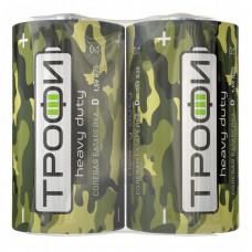 Батарейка солевая (ЭП) Трофи R20-2S Классика (12/288/6912) (D) | Б0023146 | ЭРА