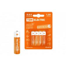 Элементы питания LR03 AAA Alkaline 1,5V BP-4 | SQ1702-0006 | TDM