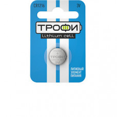 Батарейка литиевая Трофи CR1216-1BL (10/240/38400) (часовая) | Б0003642 | ЭРА