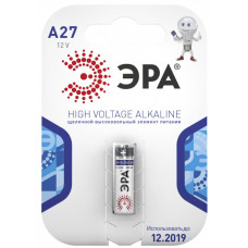 Батарейка щелочная (алкалиновая) A27-1BL (40/160/19200) (27A) | C0038442 | ЭРА