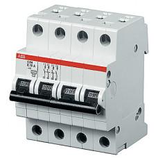 Выключатель автоматический четырехполюсный S204P 6А C 25кА (S204P C6) | 2CDS284001R0064 | ABB