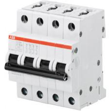 Выключатель автоматический четырехполюсный S204 10А Z 6кА (S204 Z10) | 2CDS254001R0428 | ABB