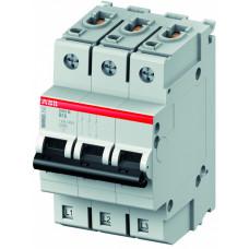 Выключатель автоматический трехполюсный S403M 50А B 10кА (S403M-B50)   2CCS573001R0505   ABB
