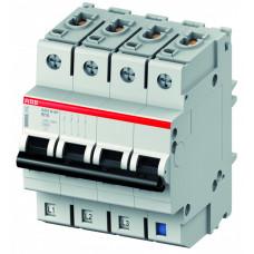 Выключатель автоматический четырехполюсный (3п+N) S403M 63А D 10кА (S403M-D63NP)   2CCS573103R8631   ABB