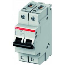 Выключатель автоматический двухполюсный S402M UC 6А C 10кА (S402M-UC C6)   2CCS572001R1064   ABB