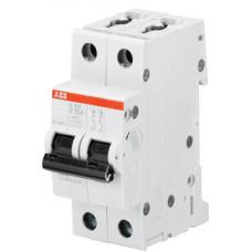 Выключатель автоматический двухполюсный S202 1,6А Z 6кА (S202 Z1.6) | 2CDS252001R0258 | ABB