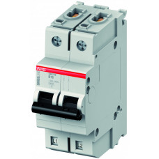 Выключатель автоматический двухполюсный S402M UC 3А C 10кА (S402M-UC C3)   2CCS572001R1034   ABB