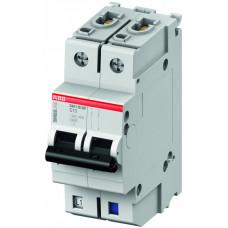 Выключатель автоматический двухполюсный (1п+N) S401M 2А K 10кА (S401M-K2NP)   2CCS571103R8277   ABB