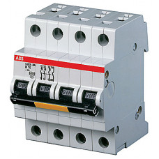 Выключатель автоматический четырехполюсный (3п+N) S203P 10А B 25кА (S203P B10NA)   2CDS283103R0105   ABB
