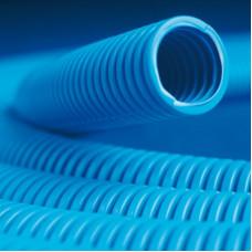 Труба гибкая гофрированная ППЛ 25мм без протяжки СВЕРХтяжёлая (50м) синий   10525+   DKC
