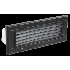 Светильник НВП 3118 60Вт Е27 IP54 черный/прямоугольник с решеткой | LNPP0-3118-1-060-K02 | IEK