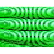 Труба двустенная гибкая дренажная 200мм, SN6, перфорация 360 град., зеленый | 140920 | DKC