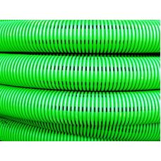Труба двустенная гибкая дренажная 125мм, SN6, перфорация 360 град., зеленый | 140912 | DKC