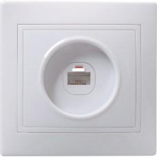 РК10-КБ Розетка 1местн. комп. КВАРТА (белый) | EKK10-K01-DM | IEK