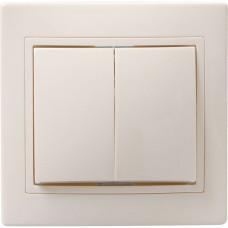 ВС10-2-0-ККм Выключатель 2кл 10А КВАРТА (кремовый) | EVK20-K33-10-DM | IEK