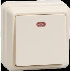 ВС20-1-1-ОКм Выключатель 1кл с инд. 10А откр.уст. ОКТАВА (кремовый) | EVO11-K33-10-DC | IEK