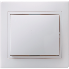 ВСп10-1-0-КБ Выключатель 1кл проход. 10А КВАРТА (белый) | EVK12-K01-10-DM | IEK