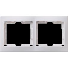 РГ-2-КБ Рамка 2местн. горизонт. КВАРТА (белый) | EMK20-K01-DM | IEK