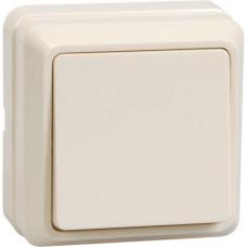 ВСк20-1-0-ОКм Выключатель 1кл кноп. 10А ОКТАВА (кремовый) | EVO13-K33-10-DC | IEK