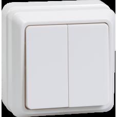 ВС20-2-0-ОКм Выключатель 2кл 10А откр.уст. ОКТАВА (кремовый) | EVO20-K33-10-DC | IEK
