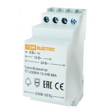 Трансформатор понижающий ТП-230В/8-12-24В 8ВА DIN-рейка | SQ0225-0001 | TDM