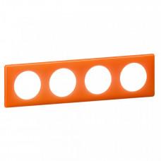 Celiane Муар Оранжевый Рамка 4-я (2+2+2+2 мод) | 066654 | Legrand