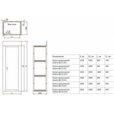 Корпус металлический панели ЩО 22.8.6 | YKM60-M1-22-8-6 | IEK