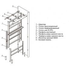 Комплект панели ЩО 20.10.6-2000 | YKM60-P-20102000-36 | IEK