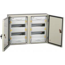 Корпус металлический ЩРн-2x24з-1 У2 IP54 (454х620х135) PRO | MKM16-N-2X24-54-ZU | IEK
