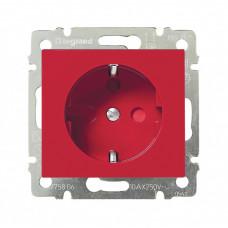Valena Красный Розетка 1-ая с/з с блокировкой (необх ключ 50299) | 774327 | Legrand