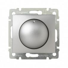 Valena Алюминий Светорегулятор поворотный 40-400W для ламп накаливания (вкл поворотом)   770261   Legrand