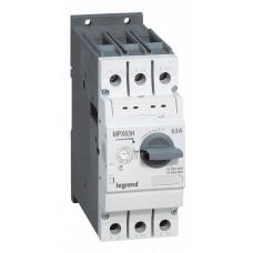 Автоматический выключатель для защиты электродвигателей MPX3 T63H 10A 100kA   417360   Legrand