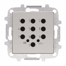 Накладка для механизма электронного выключателя с кодовой клавиатурой 8153.5, серия SKY, цвет серебристый алюминий 2CLA855350A1301  ABB