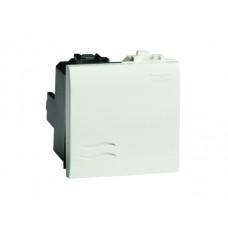 Выключатель типа кнопка. белый. 2мод. | 76022B | DKC
