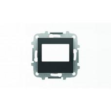 Накладка для механизма цифрового FM-радио арт.9368 и/или механизма (блока) ДУ арт.9368.2, серия SKY, цвет чёрный барх. 2CLA856800A1501  ABB