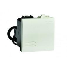 Выключатель типа кнопка с подсветкой слоновая кость 2мод. | 75022SL | DKC
