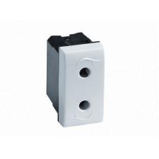 Электрическая розетка. белая. 1мод. | 76491B | DKC