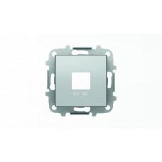Накладка для механизмов зарядного устройства USB, арт.8185, серия SKY, цвет серебристый алюминий 2CLA858500A1301  ABB